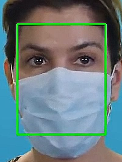 Detecting faces with mask